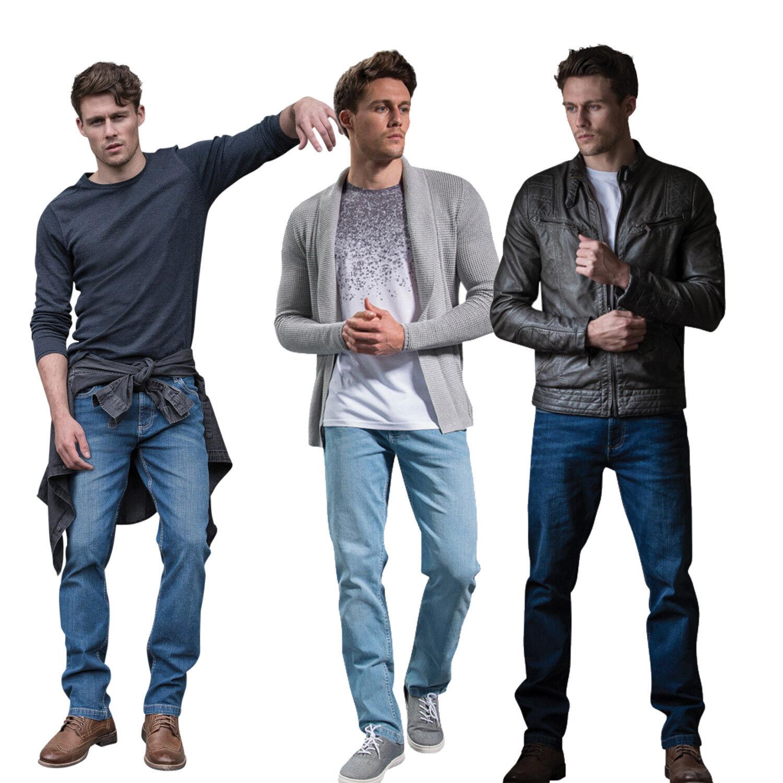 Sdnm Basic dritto jeans pantaloni uomo regular fit gamba modello 5-pocket-stil
