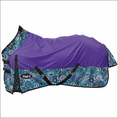 Tough-1 1200D Waterproof 84   Poly Turnout Sheet - Paisley Shimmer Print  - NEW