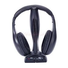 New 8 in 1 Wireless Headphone Cordless Headset Mic FM Radio for TV PC iPod CA