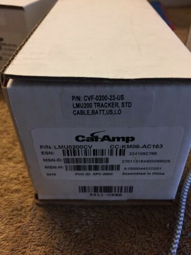 Brand New CalAmp GPS Tracking Internal Antenna Lmu0200cv PN:cvf-0200-23-us NEW!