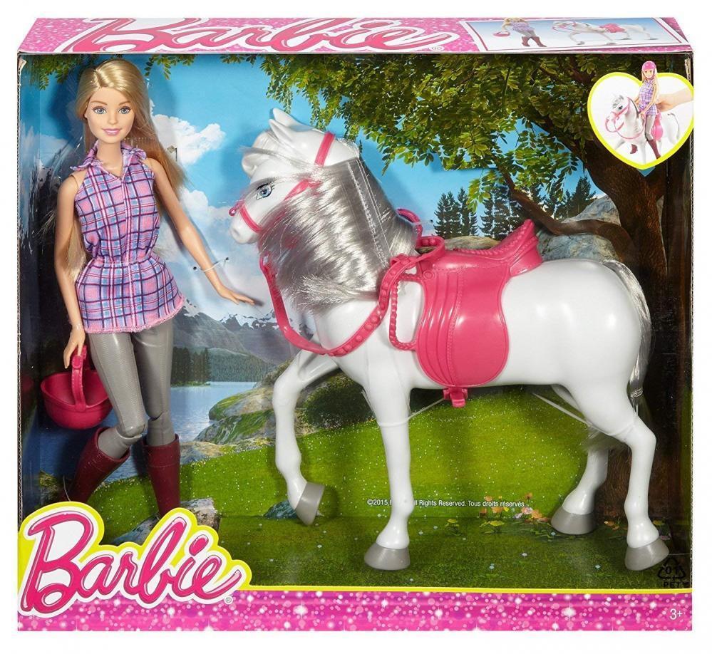 Barbie DHB68 Kinder Spielzeug Puppe mit Pferd & Zubehör für Mädchen ab 3 Jahren