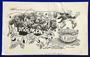 1980-039-s-Patriots-NFL-Playoffs-034-Dissension-034-15x24-Original-Cartoon-Art-by-Germano