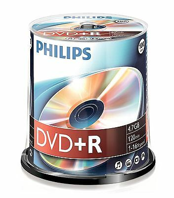 Philips DVD+R 120 Minutes 4,7 GO 16x Vitesse Enregistrable Disques Vierges