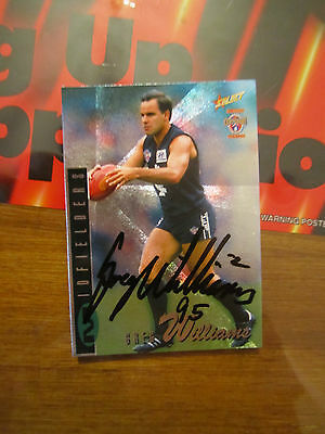 CARLTON BLUES - GREG WILLIAMS SIGNED 1996 SELECT CENTENARY SILVER CARD