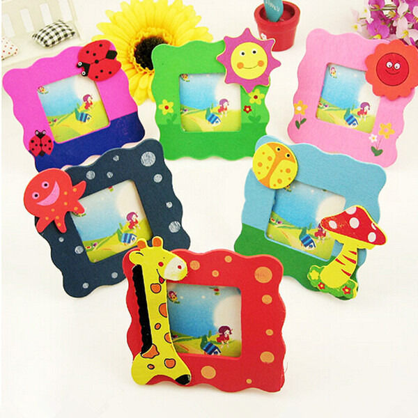 Cartoon Wooden Toy Mini Cartoon Photo Frame Gift Baby Small Picture Show Window