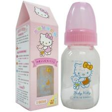 Hello Kitty Pink Baby Glass Feeding Bottle 4oz. / 120ml BPA FREE Sanrio