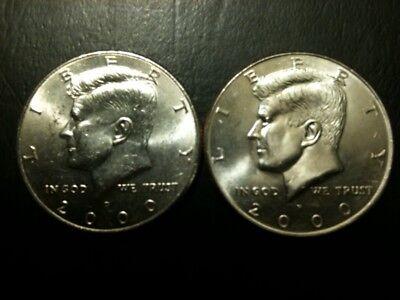1976 P/&D Kennedy Half Dollar Set AU+//BU Clad no Silver US 50 Cent About UNC MS