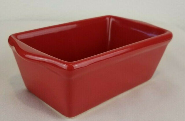 Red Mini Baking Loaf Bread Dish Pan Oven Microwave Dishwasher Safe Ceramic EUC  eBay
