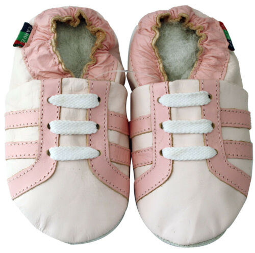 soft sole leather baby shoes sports light pink 12-18m S