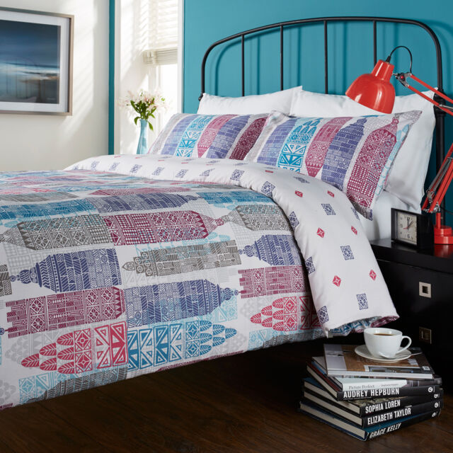Hummingbird Baumwolle Wende Bettbezug mit Kissenbezug Bettwäsche Set