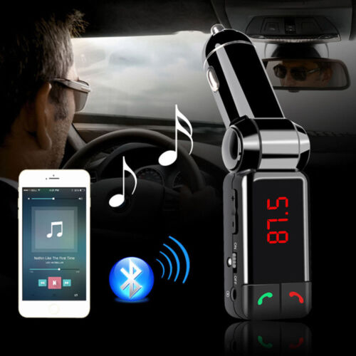 LCD Bluetooth Car Set FM Transmitter MP3 Radio USB Charger Handsfree For iPhone