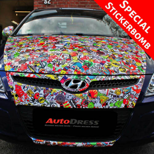 Stickerbomb Foil Sticker Bomb Car-Wrapping Air Canal Car Wrapping Special