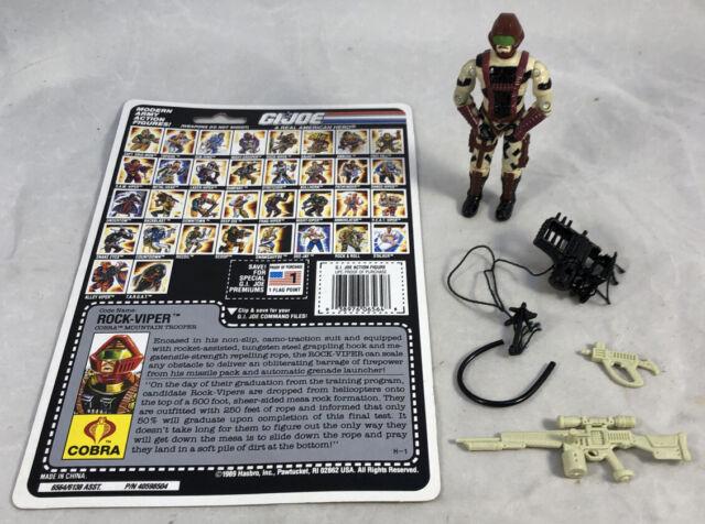 GI Joe 1990 Rock-Viper V1 100% Complete w/ Uncut Card Hasbro ARAH Vintage
