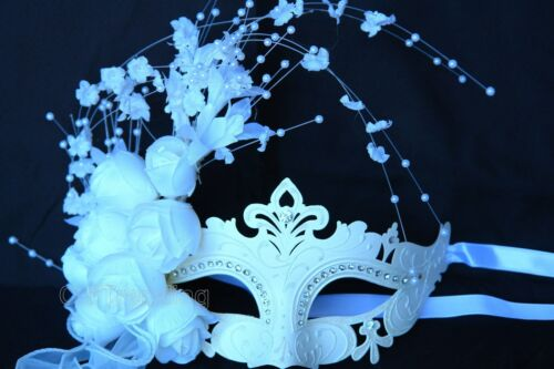 Bride Wedding Masquerade White Mask bachelor Engagement anniversary party