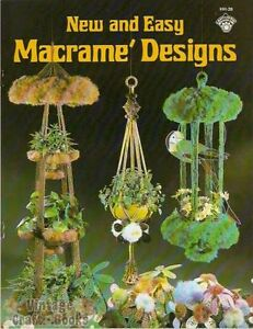 macrame plant hanger pattern books new and easy macrame designs vintage pattern book new 1979 7420