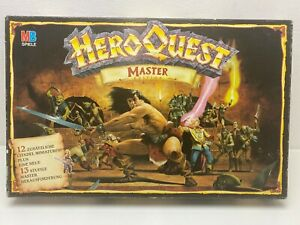 Heroquest-Master-von-MB-Games-Workshop-Fantasy-Abenteuerspiel-guter-Zustand-RAR