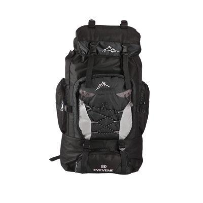 Sac à dos en nylon 80L Extra Large Camping sac à dos de randonnée sac à dos