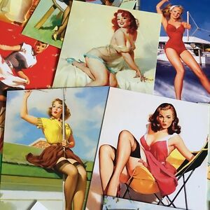 LOT-30-PCS-Vintage-Retro-Pin-Up-Girls-Postcards-Gil-Elvgren-US-Beauties-Set-Bulk