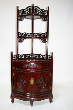 oriental furniture rosewood open corner cabinet