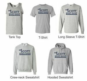 Keith-Scott-Body-Shop-gray-T-shirts-Sweatshirt-Tan-Top-TV-Novelty
