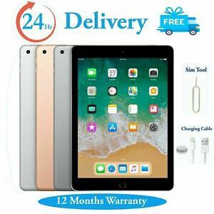 "Apple iPad 6th Generation 32GB/128GB 9.7"" WiFi, Cellular All Colours 2018 Model"