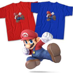 Super-Smash-Bros-Ultimate-Mario-Nintendo-Switch-Video-Game-Unisex-Tee-T-Shirt