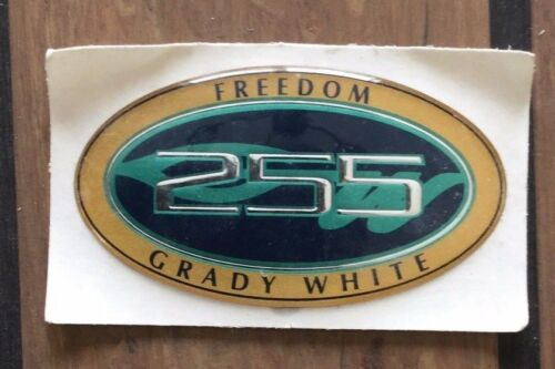 GRADY WHITE 255 FREEDOM OVAL NAME DECAL SMALL #10-0398 OEM