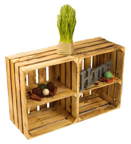 2er Set geflammte étagère caisse latéral avec sol caisse à vin Étagère à chaussures Table de nuit