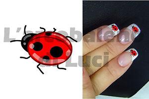 20 Adesivi Unghie Nails Stickers Coccinella Ladybird Nail Art Ricostruzione Ebay