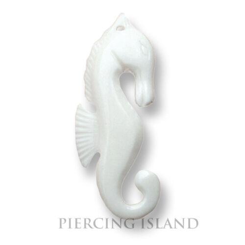 Seepferdchen Seahorse Amulett Anhänger mit Band Knochen Maori Handarbeit PB019