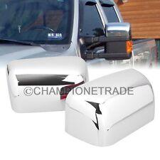 Chrome Side Half Mirror Cover For 08-16 Ford F250 F350 F450 F550 Super Duty CT