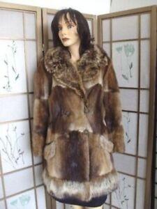 Coat Fur 6 Raccoon Kvinder Natural Muskrat Mint Størrelse qSvItt