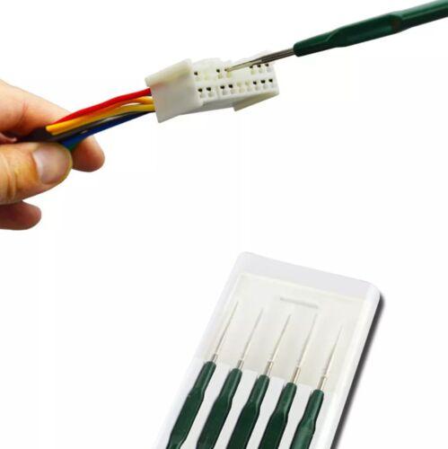 Crimp connector Pin pigtail PLUG Remover Terminal Removal Tool Kit Set Titanium