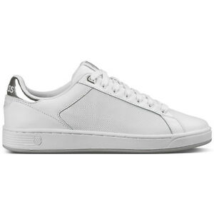 K-Swiss Clean Court CMF Women Sneaker Damen Schuhe white silver 95353-133 Lozan