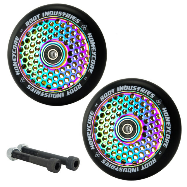 Root Ind. Honeycore 110mm NeoChrome Scooter Wheels With Bearings + Free Axles