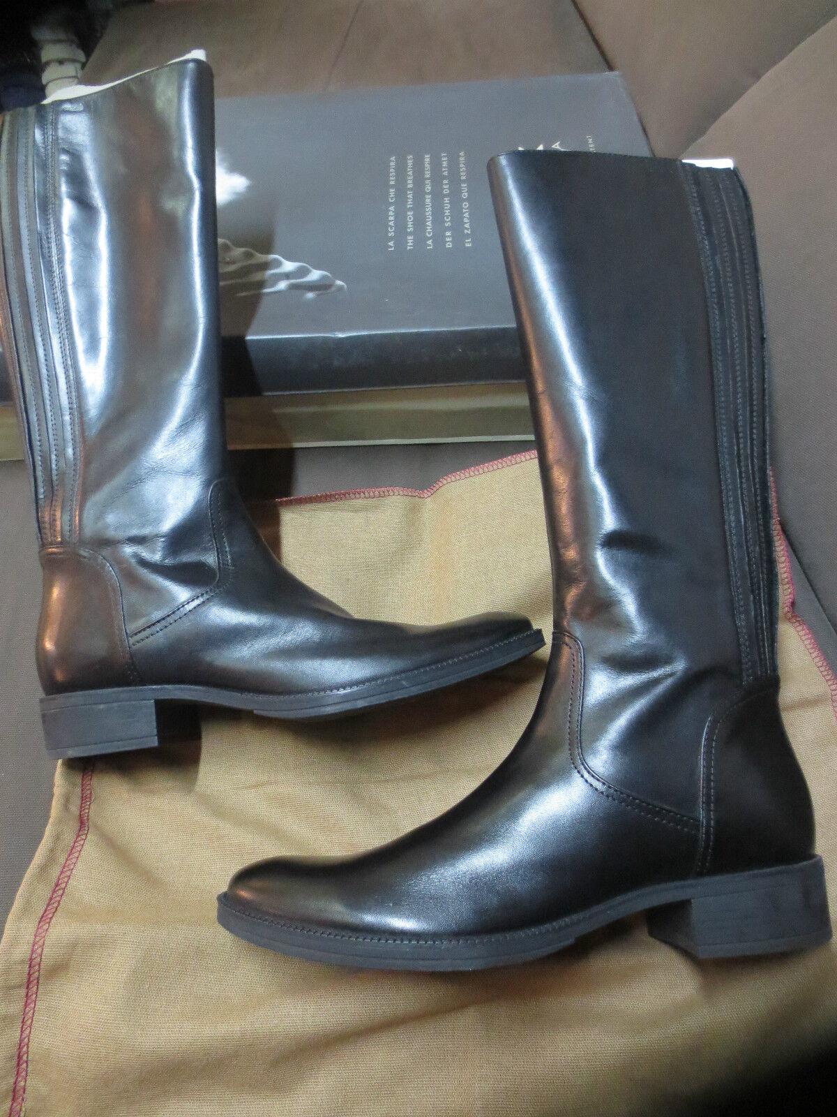 GEOX stivali Mendi pelle Taglia nero nuove valore 199E Taglia pelle 36 600bb6