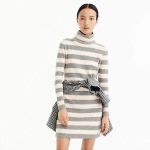 efa7b4564cd NEW J. Crew Womens Mock Turtleneck Sweater Dress Black Beige Stripe ...