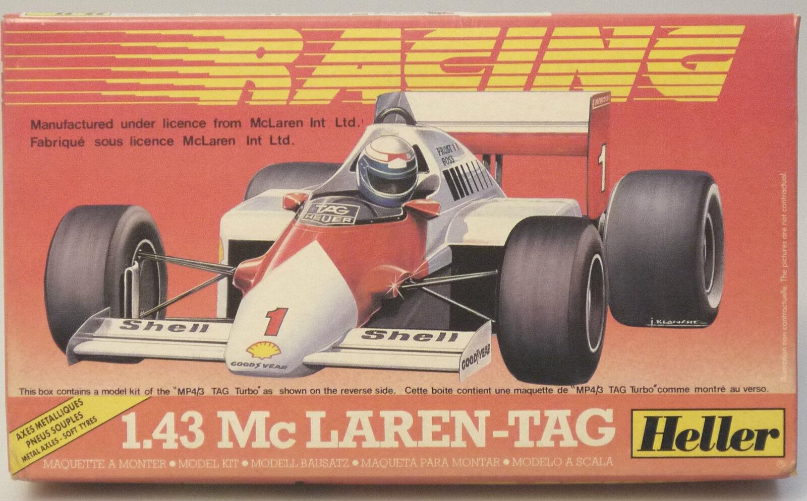 (PRL) MC LAREN TAG RACING 1 43 AUTO CAR VOITURE MONTAGGIO MODELLINO MODEL HELLER
