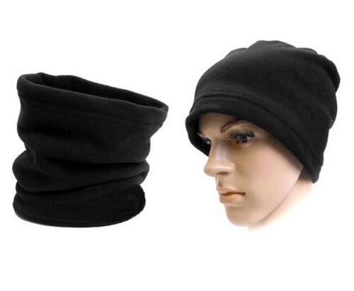 Snood Scarf Winter Hat Fleece Neck Warmer Balaclava Men Women Black Ski Mask OJ