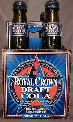 FULL In Mint Shape RARE Vintage 1995 Royal Crown Draft Premium Cola Bottle