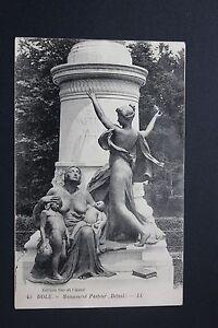 Tarjeta-Postal-Antigua-CPA-Dole-Monumento-Pasteur