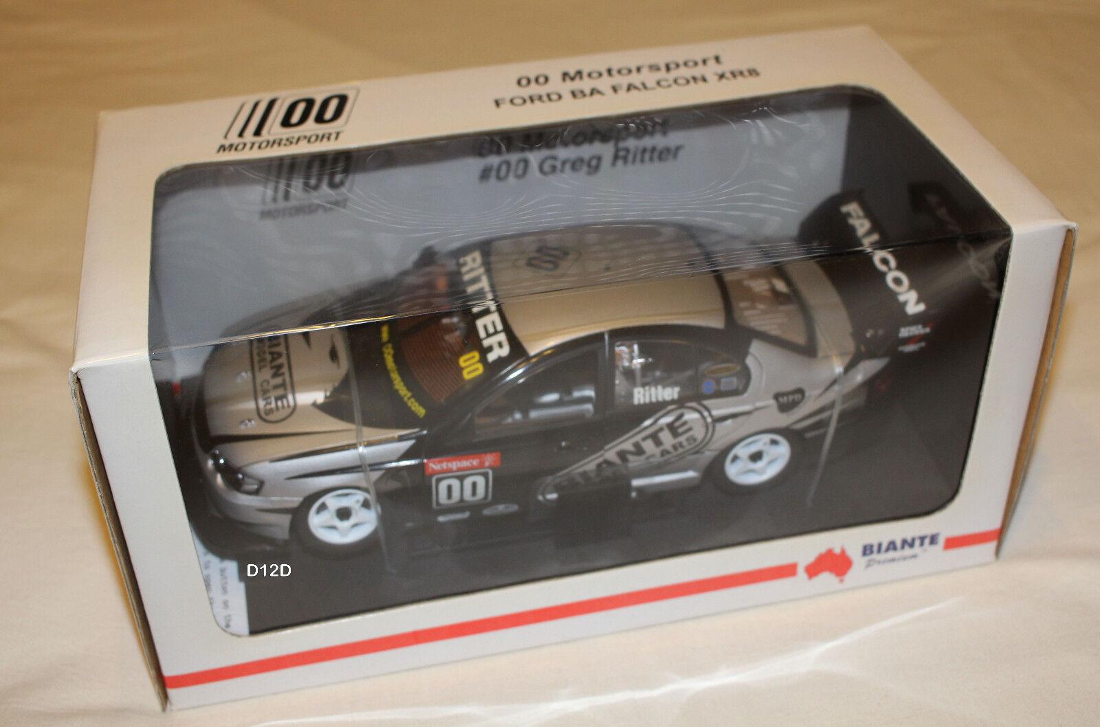 Greg Ritter Ritter Ritter 2003 00 Motorsport Ford BA Falcon V8 Supercar 1 18 Biante 6c6e83