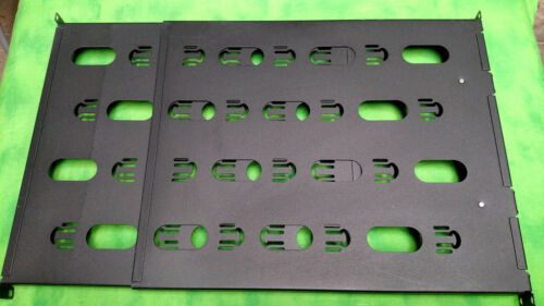 """19/""""W x 1U  MY Front-to-Back Chatsworth 13517-701 Shelf Rack Mount Cable Tray"""
