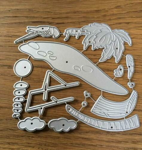 seaside Vacation Metal Cutting Dies Stencil Scrapbooking DIY Paper Card Emboss