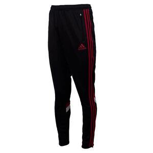 2fd0709944ee5 Das Bild wird geladen Adidas-Trainingshose-AC-Milan -Fitness-Hose-lang-Sporthose-