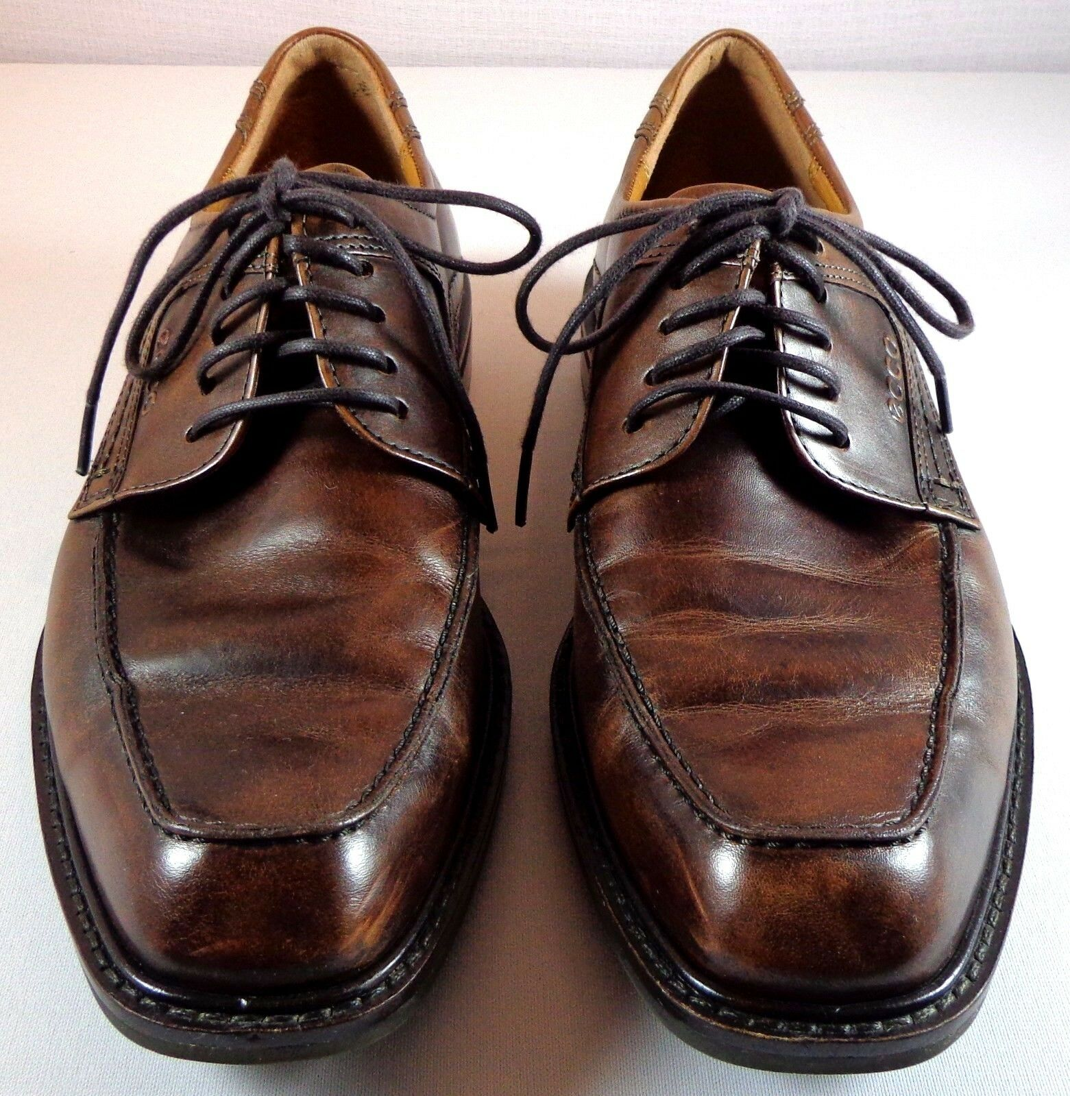 ECCO Oxfords Mens Brown Leather Lace Up shoes Size 40 US 7 Dual Width
