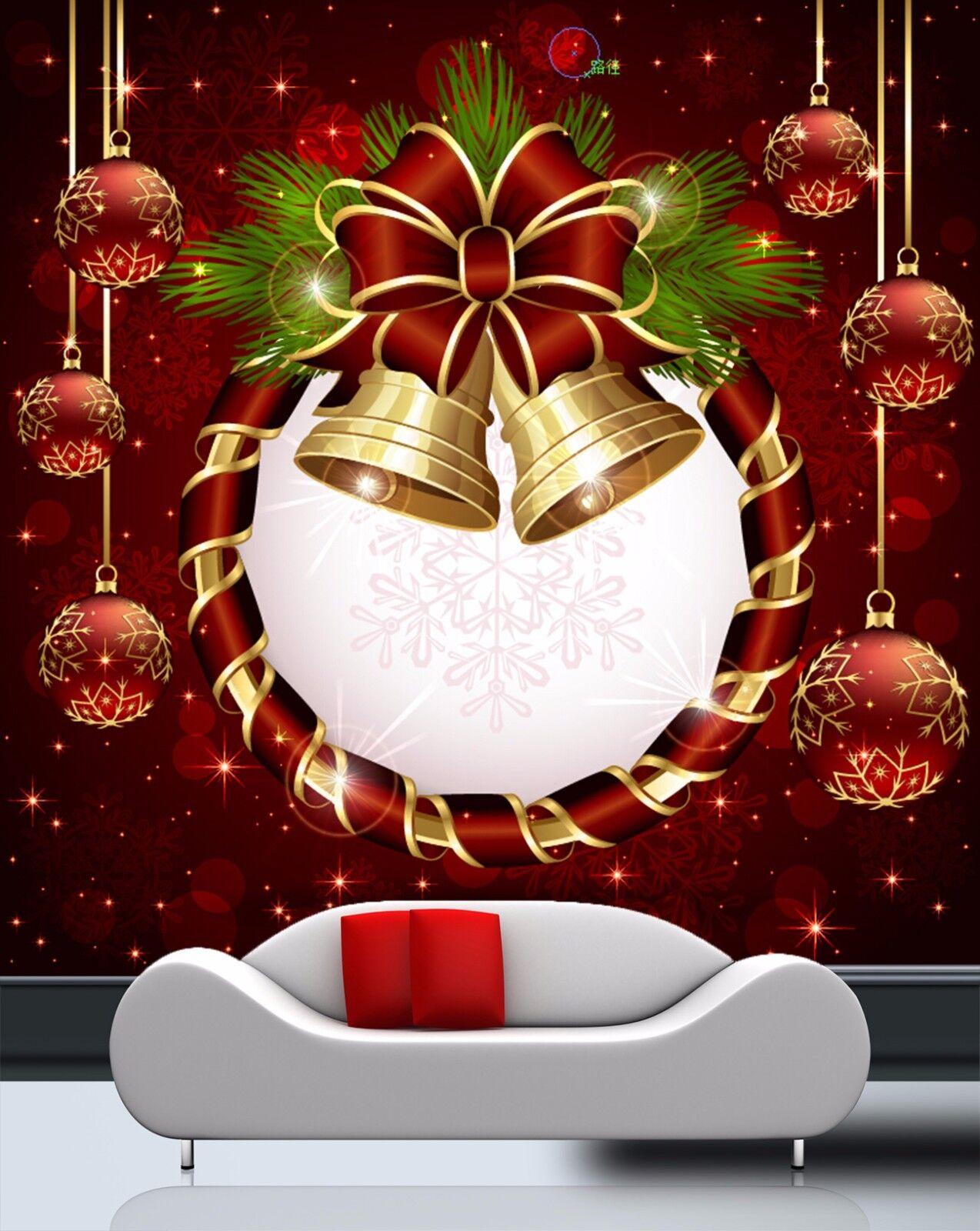 3D Holiday Ornaments 74 Wallpaper Mural Paper Wall Print Wallpaper Murals Lemon