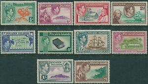 Pitcairn-Islands-1940-SG1-8-Bounty-set-MH