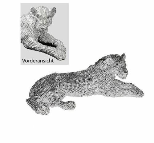 79977 Panther Brilliant de poly color plata brillante tirados con longitud de 68 cm