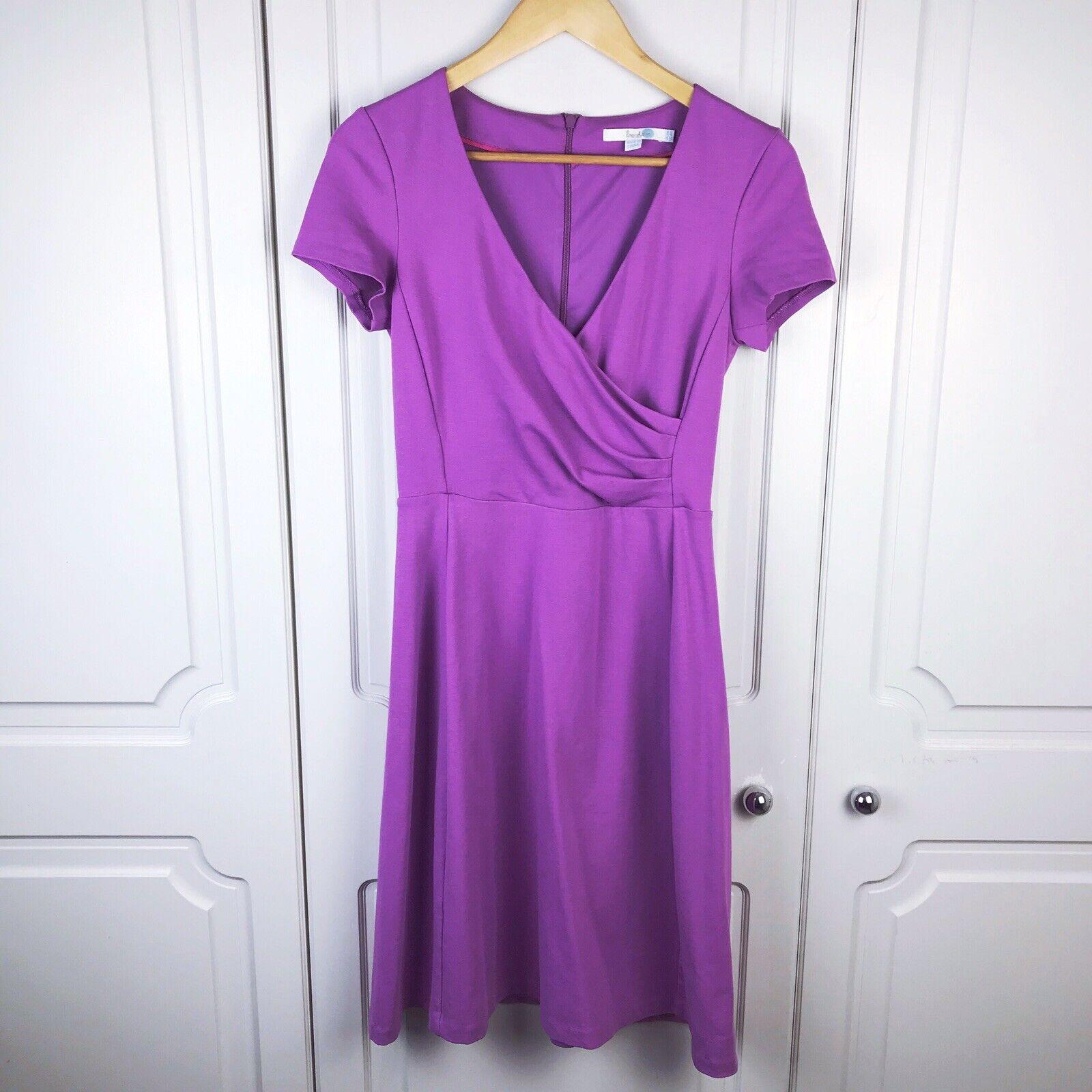 Boden purplec Alicia Ponte Dress Size 8 R BNWOT